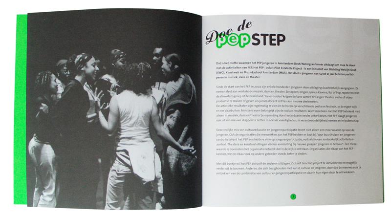 ontwerp brochure PEP