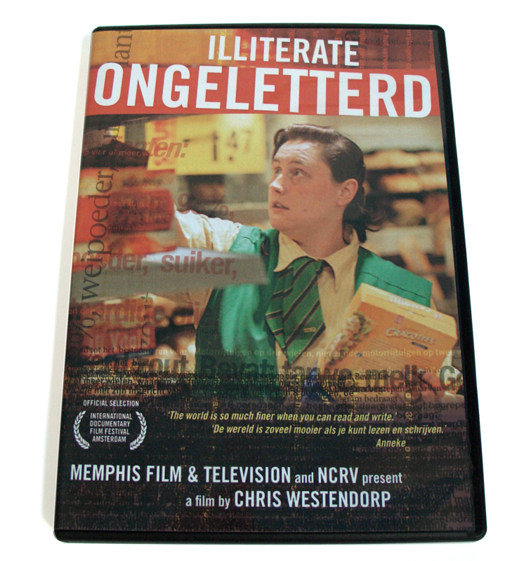 ontwerp dvd-hoes voor Ongeletterd / Illiterate