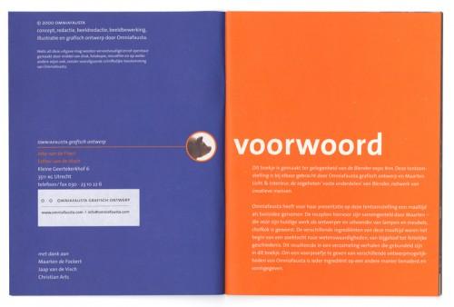 voorproefje eigen uitgave met driegangen menu, omniafausta grafisch ontwerp
