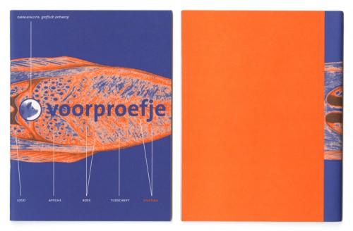 voorproefje eigen uitgave over eten, omniafausta grafisch ontwerp