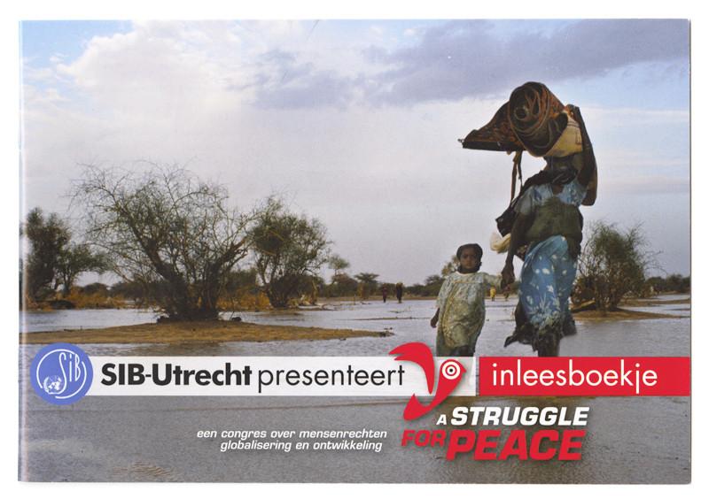 brochure inleesboekje struggle voor peace studentencongres
