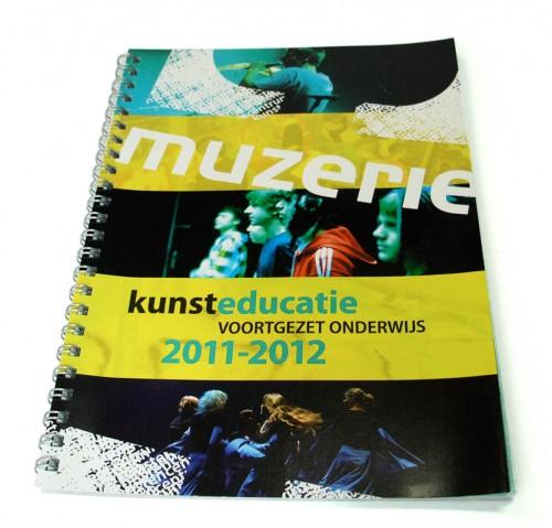 ontwerp onderwijsbrochure voortgezet onderwijs Muzerie 2011-2012