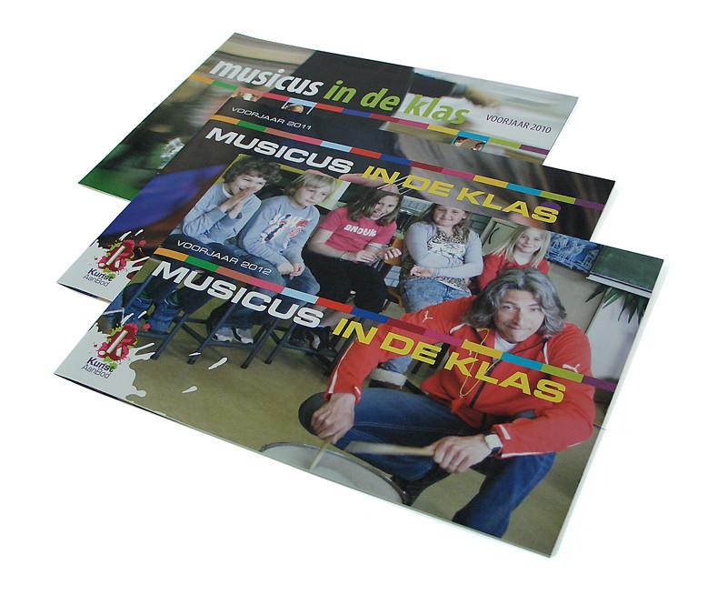 ontwerp brochure musicus in de klas