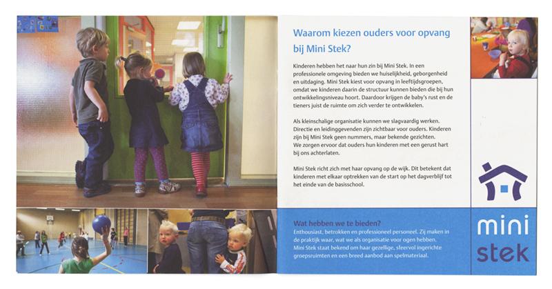 ontwerp algemene brochure kinderopvang