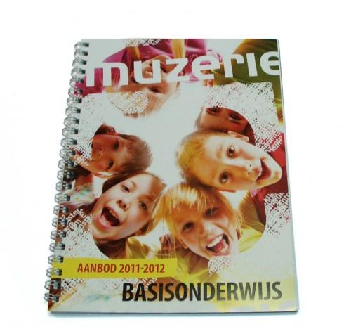 ontwerp brochure aanbod muzerie basisscholen