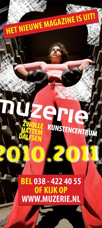 grafisch ontwerp banner kunstencentrum Muzerie