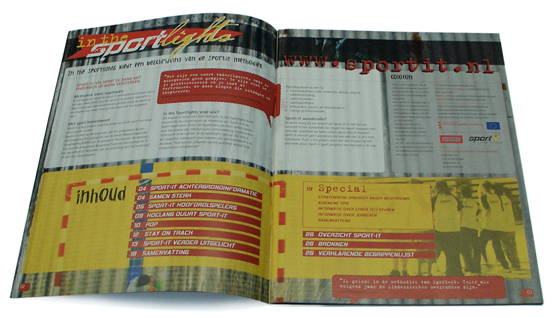 ontwerp magazine sport-it