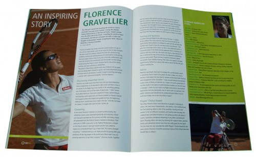 magazine ontwerp wheelchair tennis