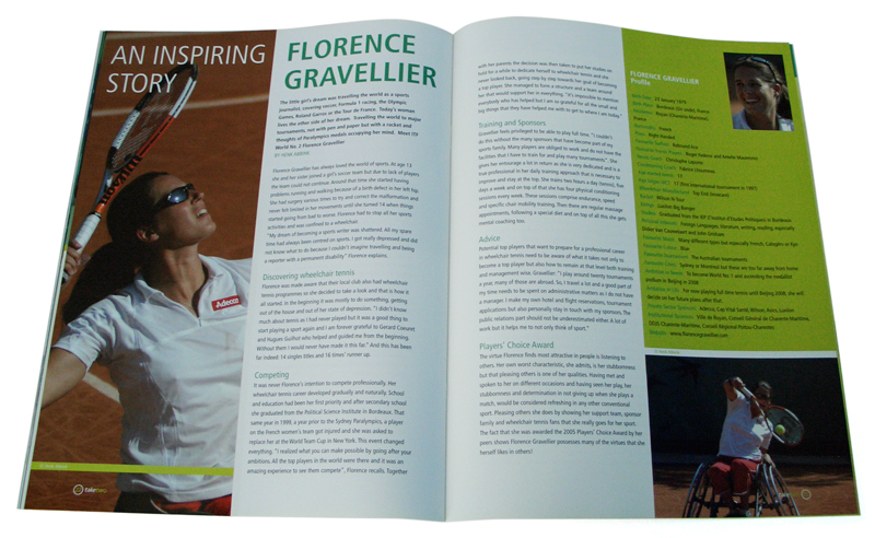 magazine ontwerp wheelchair tennis