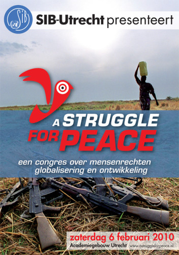 grafisch ontwerp flyers A struggle for Peace