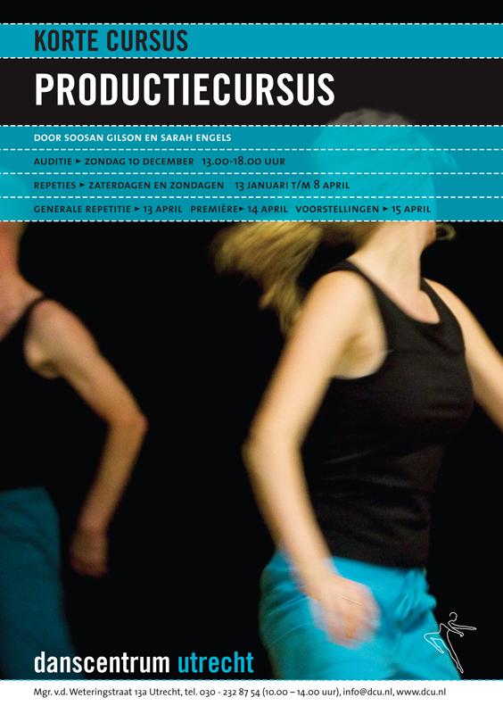 grafisch ontwerp flyers voor Danscentrum Utrecht