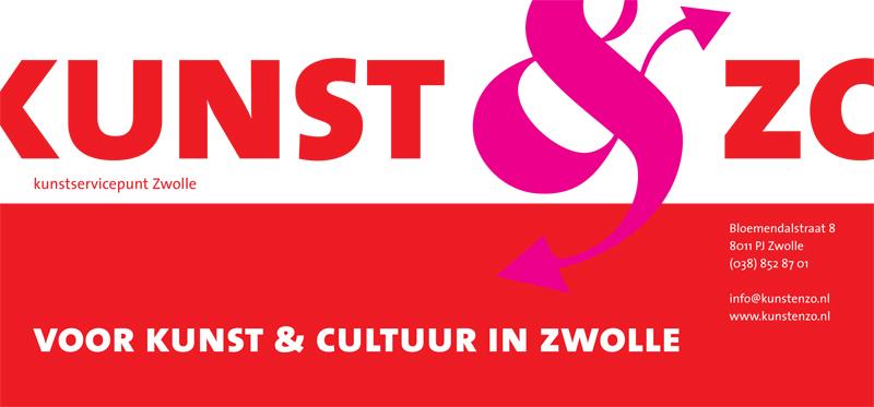 grafisch ontwerp flyer voor Kunst & Zo