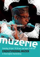 ontwerp flyer eindpresentatie Muzerie