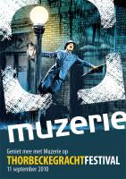 ontwerp flyer Thorbeckegrachtfestival Muzerie