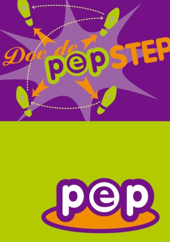 Grafisch ontwerp flyer Doe de PEP-step