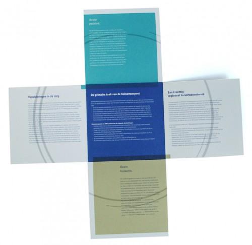 ontwerp folder voor vereniging huisartsenposten nederland