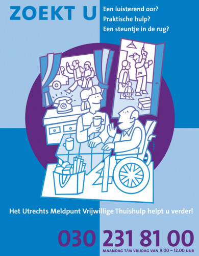 grafisch ontwerp folder Vrijwilligerscentrale