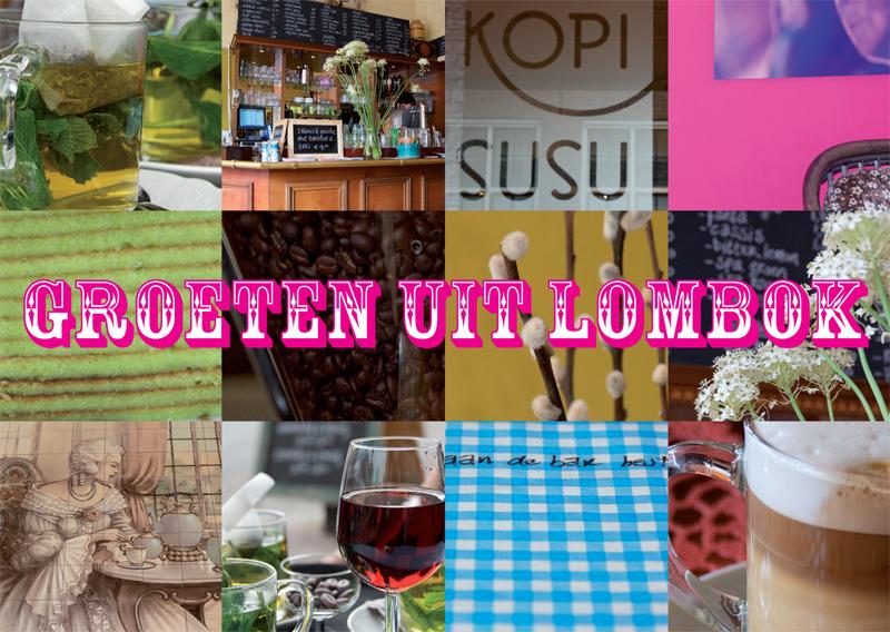 grafisch ontwerp ansichtkaart voor Kopi Susu