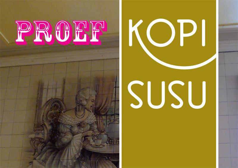 grafisch ontwerp ansichtkaart Proef Kopi Susu