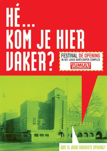 grafisch ontwerp boomerang kaart voor festival
