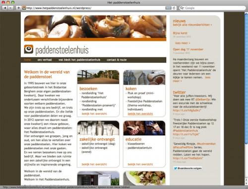 webdesign paddenstoelenhuis