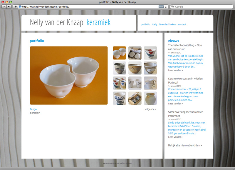 webdesign Wordpress site portfolio voor Nelly van der knaap