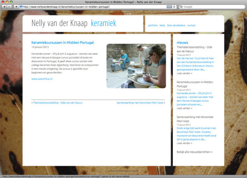ontwerp en realisatie website met nieuwsberichten