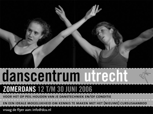 ontwerp advertentie danscentrum Utrecht