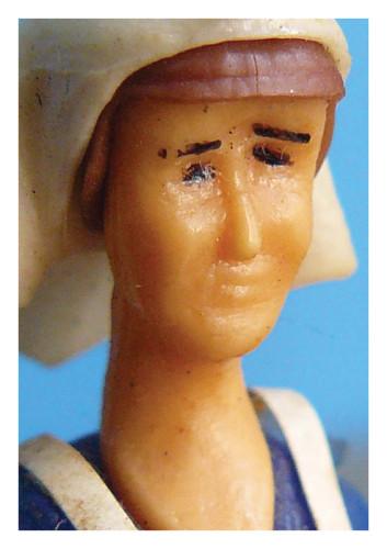 kaart portret sleutelhanger zuster Klivia, uit een reeks kaarten voor Truttenware