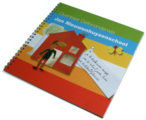 ontwerp afscheidsboekje school Utrecht