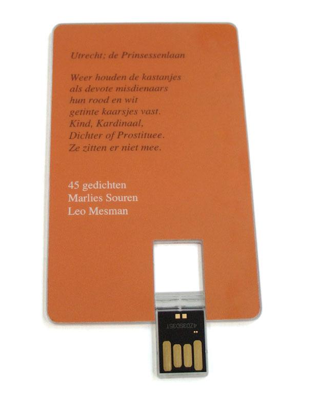 ontwerp digitale dichtbundel op USB-kaart