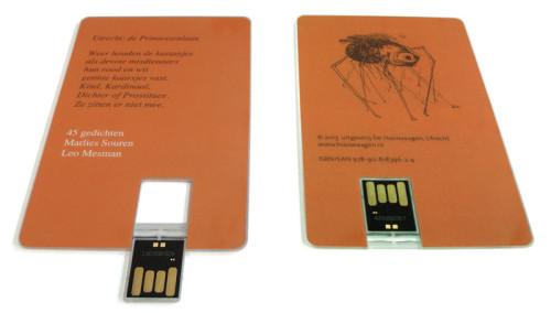 USB-kaart met dichtbundel voor uitgeverij de Hooiwaagen