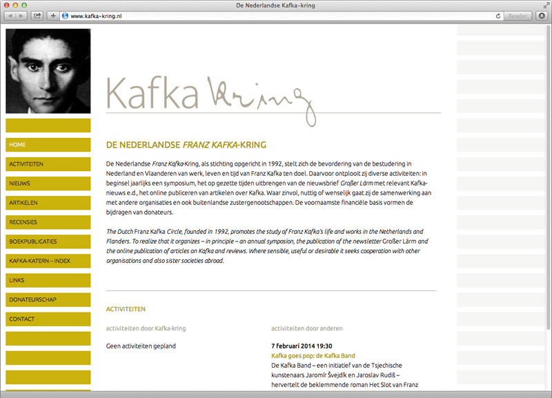 webdesign website kafka-kring