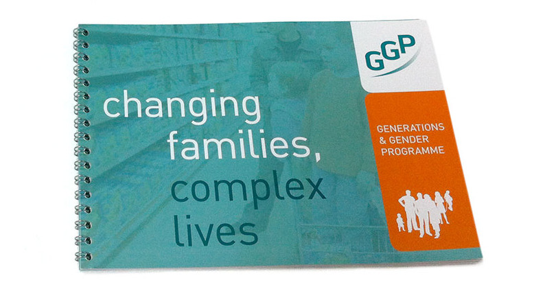 brochure voor GGP Generations & Gender Programme