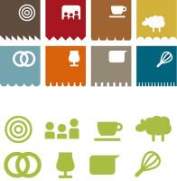 grafisch ontwerp iconen voor huisstijl Molen de Ster Utrecht