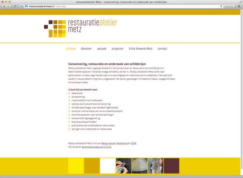 ontwerp en realisatie website restauratieatelier