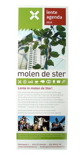 grafisch ontwerp folder met agenda voor Molen de Ster in Utrecht