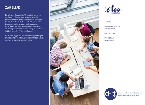 ontwerp achterzijde folder e-Loo