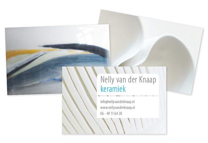 grafisch ntwerp voor visitekaartje Nelly van der Knaap