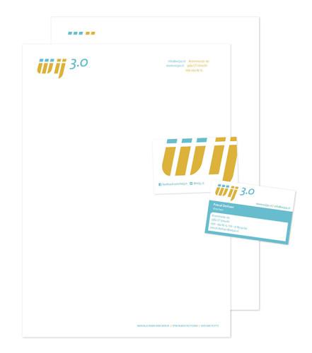 grafisch ontwerp correspondentiepakket voor WIJ 3.0 uit Utrecht