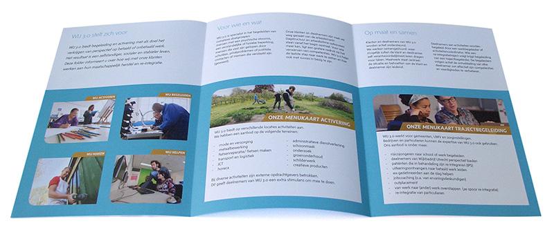 ontwerp binnenzijde folder voor Wij 3.0 uit Utrecht