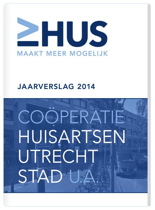 ontwerp digitale bladerversie jaarverslag Huisartsen Utrecht Stad