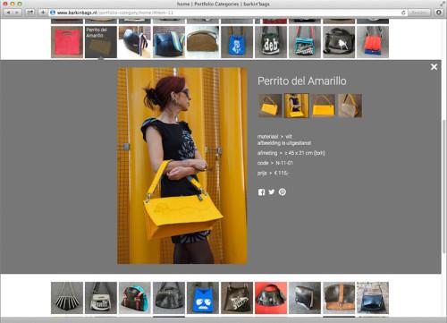 website ontwep en uitvoering voor Barkinbags