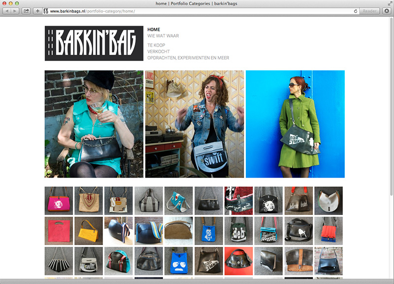 website design voor Barkinbags