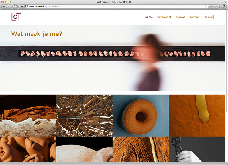 Wordpress website portfolio voor Lot Brandt