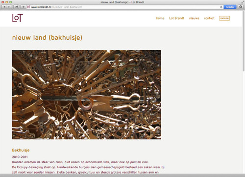 website portfolio voor Lot Brandt