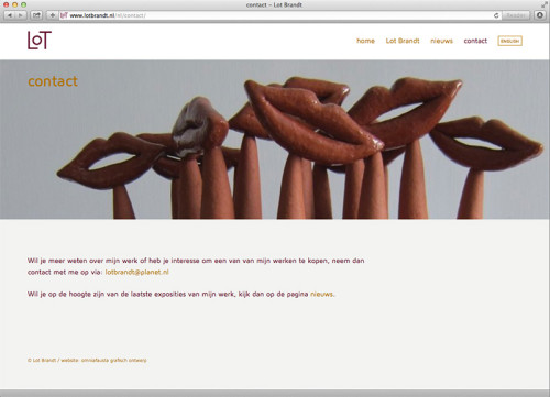 Wordpress website voor Lot Brandt