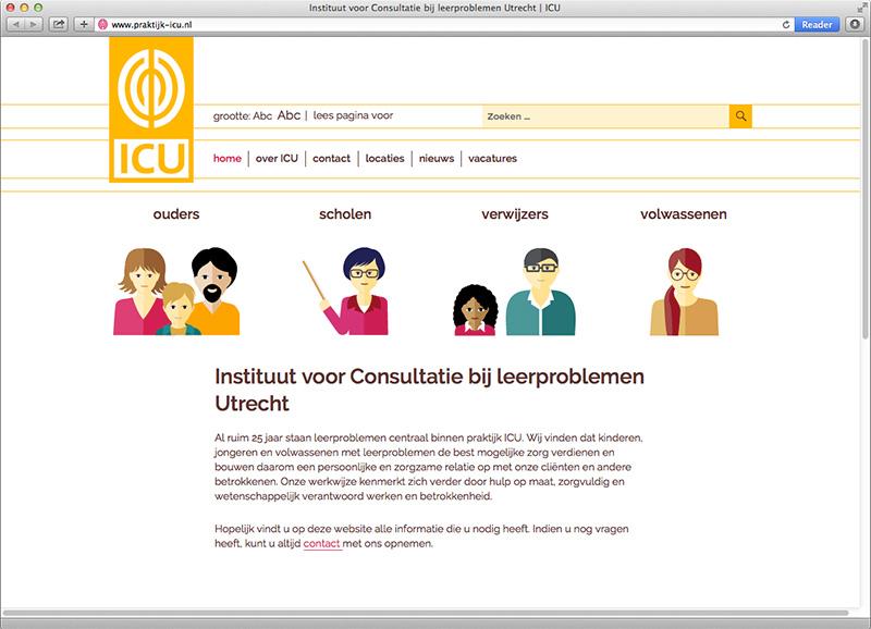 website ontwerp met Wordpress voor ICU Utrecht