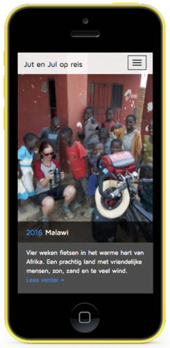 mobiele versie website jut-en-jul-op-reis.nl