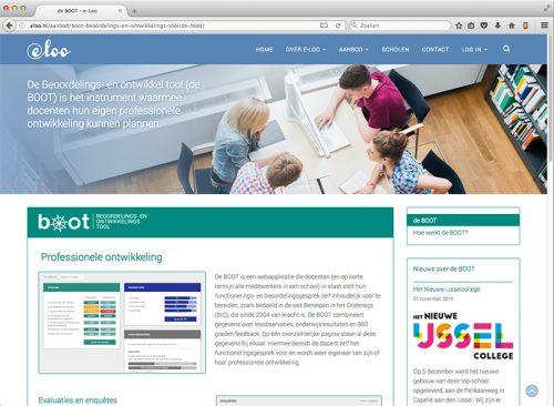 ontwerp en realsiatie website eloo.nl
